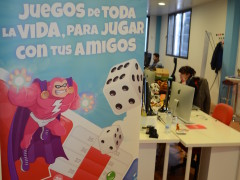"Playspace's ""La Ruleta Loca"" on the top downloaded games."