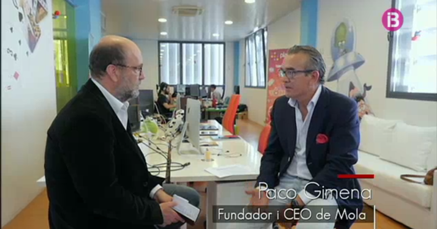 "Interview to Paco Gimena at the tv programme ""Engrescats"", on IB3"